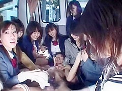 Amazing homemade Bus, Group Sex xxx movie