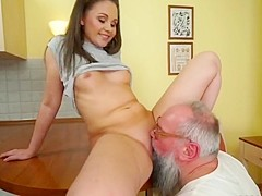 Grandpa vs college girl 3