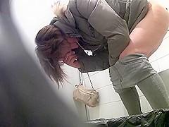 Voyeur wc 13 - milfs bending over for peeing