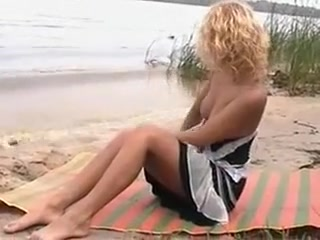 Nudist Teen is not Shy to Make Sex on the Beach with Friend