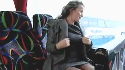 Hot Woman Masturbates in Public Bus