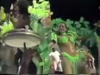 South American Carnival dancers in amazing outfits