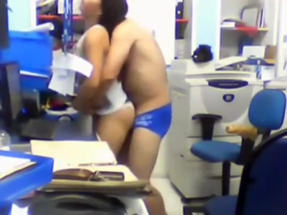 Unlawful office foreplay caught on security camera
