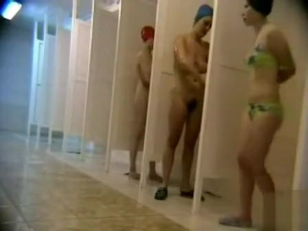 All kinds of amateur women taking a shower at the gym