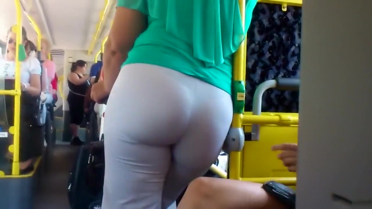 Large buttocks in the public transport