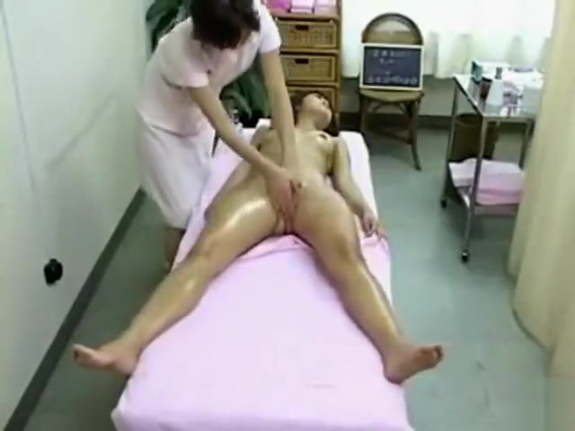 Japanese lesbian massage with pussy and tit play