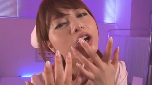 Amazing Japanese chick Akiho Yoshizawa in Exotic Nurse/Naasu, Facial JAV scene