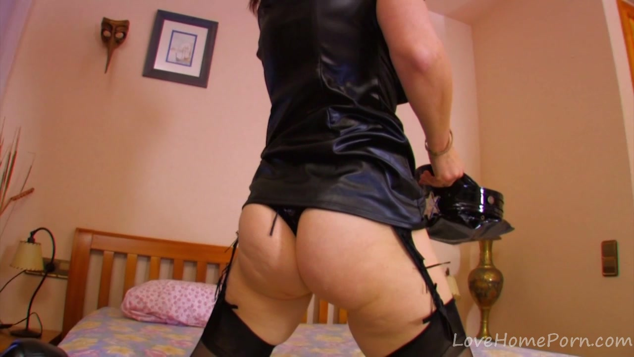 Mature Brunette Plays Dress-up As A Cop