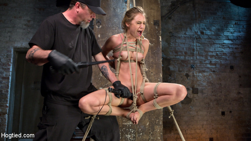 Lyra Law & The Pope in Young Blonde Babe Is Devastated In Brutal Bondage And Made To Cum - HogTied