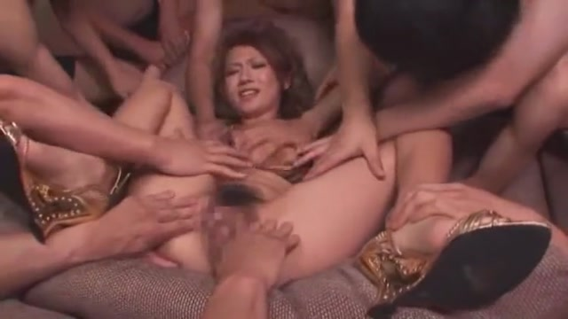Exotic Japanese model Reon Otowa in Incredible Fingering, Gangbang JAV video