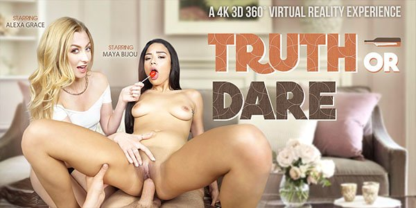 Alexa Grace & Maya Bijou in Truth Or Dare - VRBangers