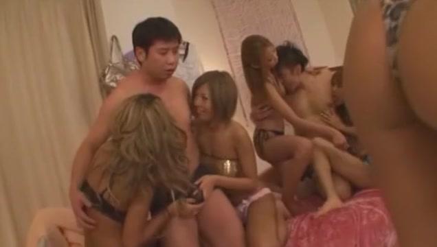 Amazing Japanese slut Kairi Uehara, Rino Mizusawa, Rika Ayane in Crazy Fingering, Gangbang JAV movie