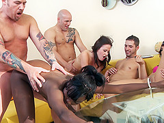 Osa Lovely & Sindee Jennings & Crissy Moon & Derrick Pierce & Justin Syder & Kris Slater in Pool Sex