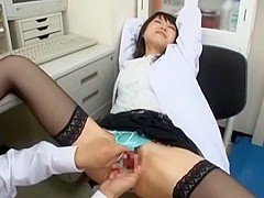 Crazy Japanese chick Airi Mikami in Incredible Cougar, Medical JAV scene