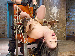 Yhivi & The Pope in Sweet Yhivi Is Decimated In Brutal Bondage, Torment, And Screaming Orgasms - Hog