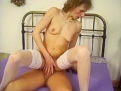Old Wrinkled Hag Gets Bent Over And Fucked In Her Dry Snatch