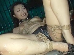 Crazy Japanese whore Ryoko Hirosaki, Inochi Ichijo, Jun Sena in Hottest BDSM, Latex JAV scene