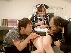 Exotic Japanese girl Kotomi Asakura, Riko Tanabe in Amazing Swallow, Stockings JAV movie