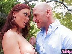 Twistys - Karlie MontanaJohnny Sins starring at Naughty Girl In The Garden