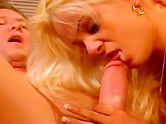 Seductive Blond Taking On a Thick Cock