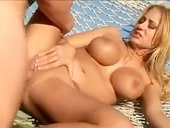 Slutty Trina Michaels Lies On Hammock For Big Penis Skewering