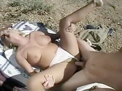Candi Kiss and Steve Taylor Fuck Outdoors Under the Hot Sun