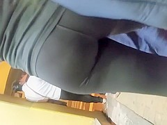 Spy cam catches a sexy girl with a perfect ass in tight pan