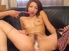 Amazing Japanese chick Yuuna Takizawa in Horny Striptease, Toys JAV scene