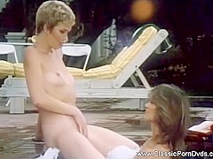 Classic Lesbians In The Hot Tub
