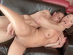 Tight-bodied young Miko enjoys having her clit licked by her horny lover