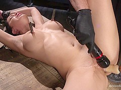 Cassandra Cain,The Pope in Newbie Pain Slut Cassandra Cain Coerced with Orgasms and Metal Bondage -