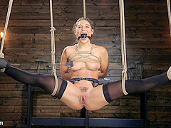 Abella Danger,The Pope in Hot Body Abella Danger Disciplined and Made to Cum in Rope Bondage!!  - Th