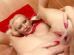 Blonde cutie with amazing tits and ass Gina indulges in anal sex for the first time