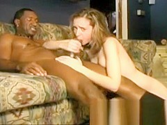 Nasty blonde with tiny boobs Kelly Wells orgasms on a long black cock