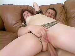 Pretty brunette Ashley Haze spreads her legs to welcome a huge cock deep in her ass