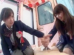 Amazing Japanese whore Chika Hiroko, Nanaka Kyono in Exotic Teens, Handjob JAV movie