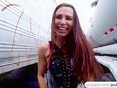 Aidra Fox makes a public sex tape with a stranger for money