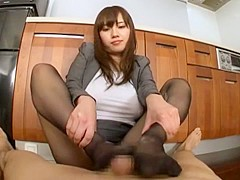 Hottest Japanese slut Azusa Nagasawa in Amazing Amateur, Footjob JAV video