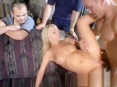 Sexy Heidi is introduced to sex with a hung stranger by her boyfriend