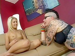 Aubrey Addams gets her wet snatch eaten by punk lesbian with tats
