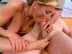 A chance meeting leads to some hot head, fucking and a nice footjob