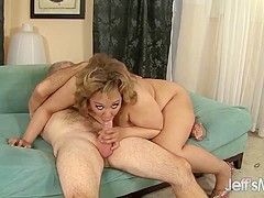 Chubby Babe Sara Wilson Takes a Thick Cock Deep in Her Puckered Asshole
