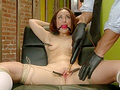 Gabriella Paltrova in Campus Girl's Chronic Masturbation Therapy - HogTied