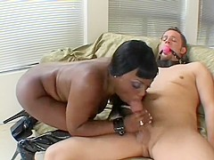 Jada Fire is a domme that loves riding her slave's cock with her ass