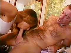 Starved cock sleeve gets her beaver shagged by her manager's stiffy