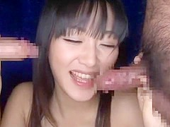 Best Japanese girl Nana Usami in Exotic Blowjob, Threesome JAV clip