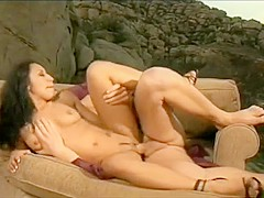 Marvelous brunette Jasmine Byrne can't get enough of a hard stick deep in her ass