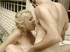 A horny old housewife has an incredible talent for sucking cock