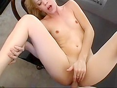 Blonde cutie Leah Luv gets her anal hole drilled rough by Tyce Bune