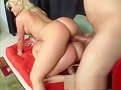 Slutty blonde milf invites a pretty young babe to share a hard stick